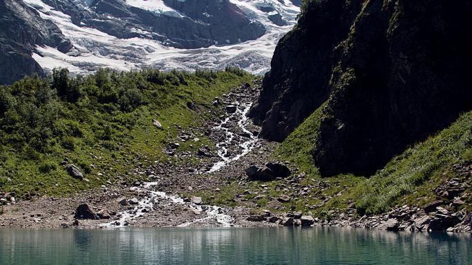 Тропа от альп.лагеря Алибек к Турьему озеру