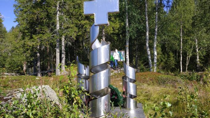 Пеший маршрут в окрестностях заброшенного п. Петровский Ям: Осударева дорога - военный госпиталь №2212